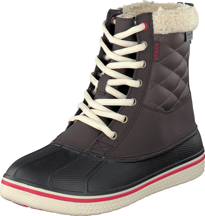 Crocs - AllCast Waterproof Duck Boot W Espresso/Red