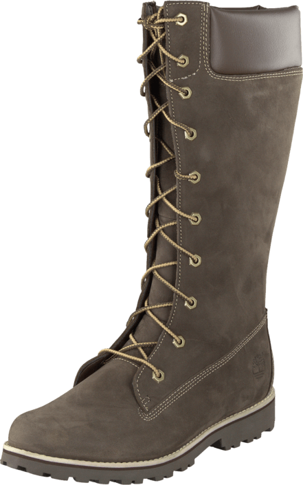 Timberland Girls Classic Tall Lace Up Dark Brown