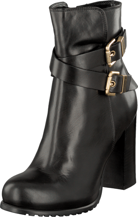 A Pair Buckle Bootie Black