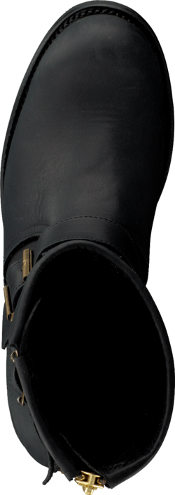 PrimeBoots - Engineer Low-39 Old crazy black + brass