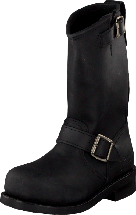 PrimeBoots - Engineer Mid-1 Old crazy black + nickel