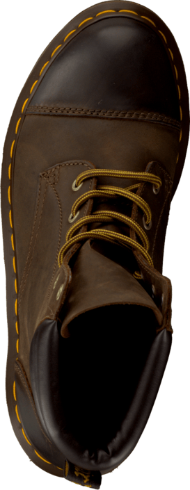 Dr Martens Parade Rugged Alexandra 6-eye Padded Collar Dark Brown
