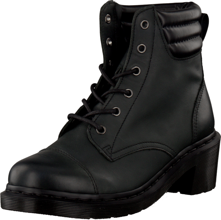 Dr Martens - Parade Rugged Alexandra 6-eye Padded Collar Black