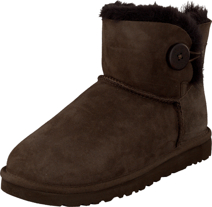 UGG Australia - Mini Bailey  Button Chocolate