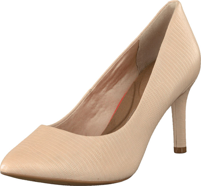 Rockport - Total Motion 75mm Pointy Toe Nude Lizard Emoss