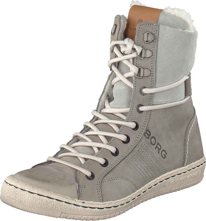 Footway SE - Björn Borg Wendy High Fur Light Grey, Skor, Sneakers & Sportskor, Sneakerskänga, 1097.00