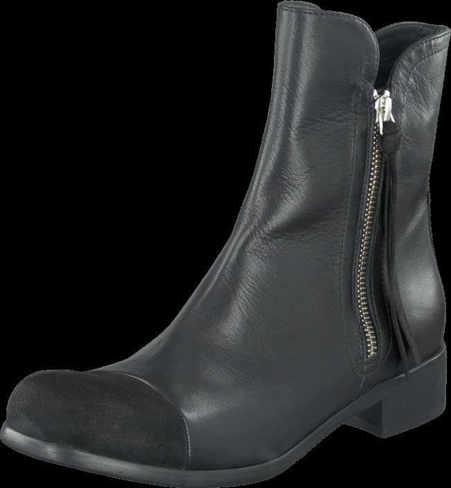Billi Bi - Black Suede/West/Silver 573 Black/Silver