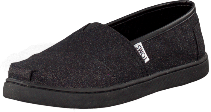 Toms - Glimmer Youth Classic MaryJane Black