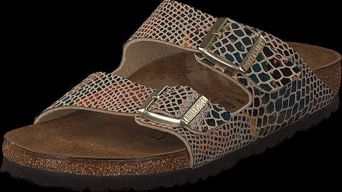 Birkenstock - Arizona Slim Birkoflor Shiny Snake Sand