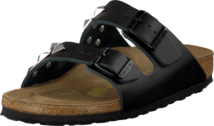 Birkenstock Arizona Slim Leather Black Pyramid