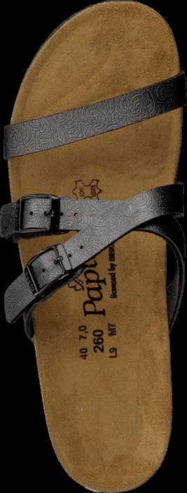 Papillio - Allegra Slim Birkoflor Shell Black Silver