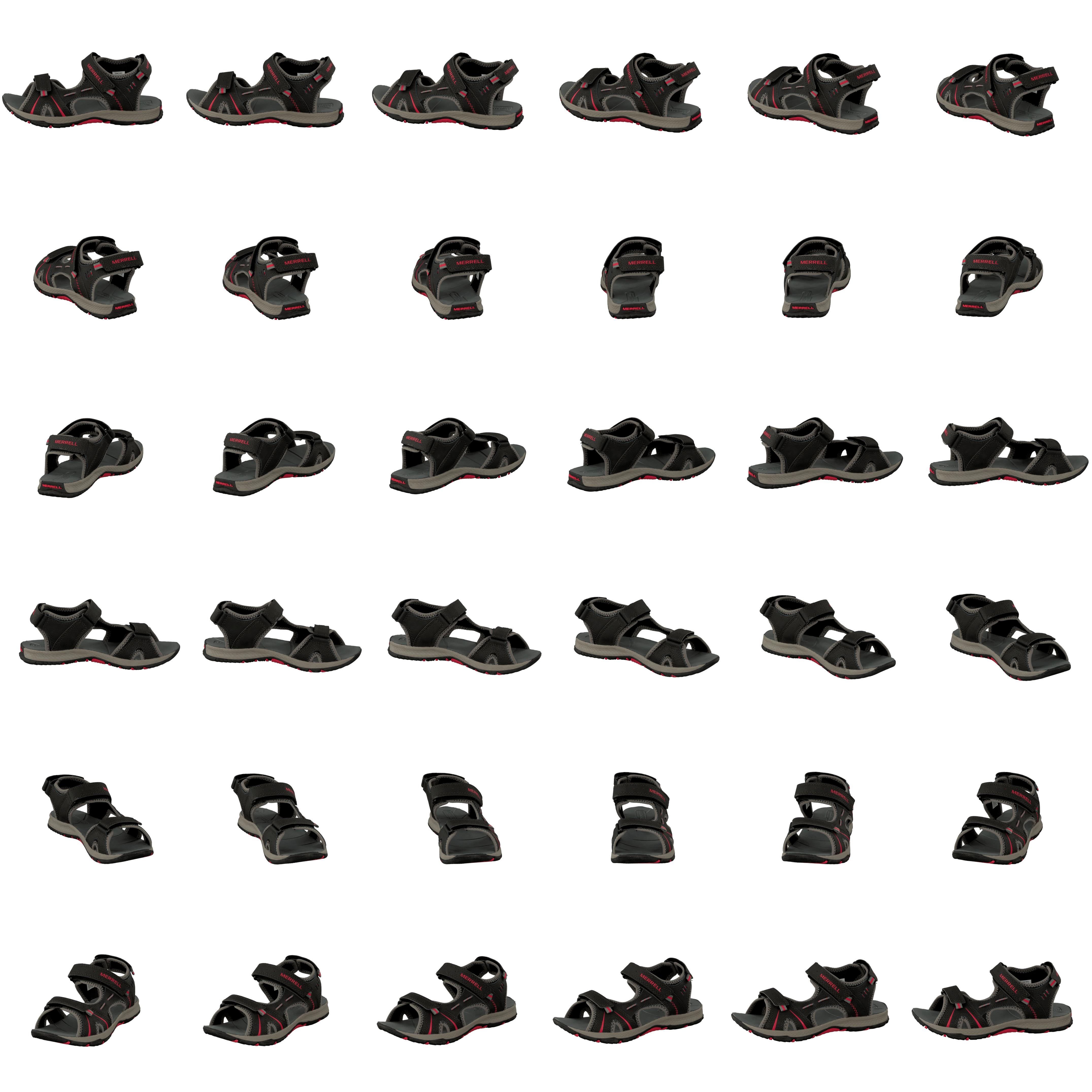 kauf merrell panther sandal black red schwarze schuhe online. Black Bedroom Furniture Sets. Home Design Ideas