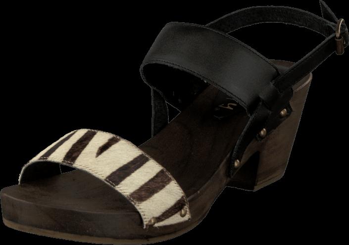 Footway SE - Duffy 59-00501 Black/Beige, Skor, Klackskor, Lågklackade sandaletter, Svart, Mön 487.00