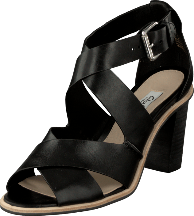 Clarks Oriana Bess Black Leather
