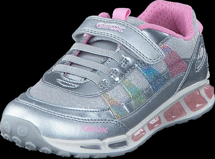 Geox - J Shuttle Girl Silver/Multicolor