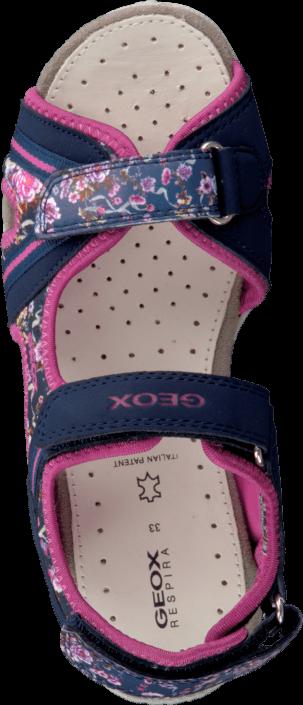 Geox - Jr Sandal Roxanne Navy/Fuchsia