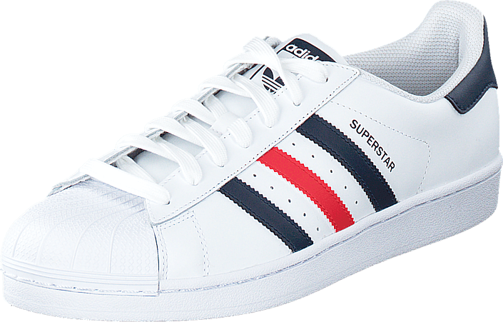 adidas Originals Superstar Foundation Ftwr White/Collegiate Navy/Red