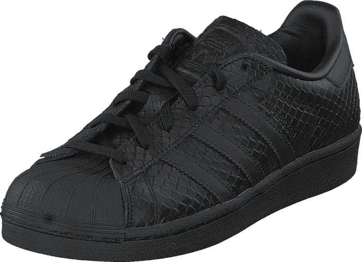 adidas Originals Superstar W Core Black/Black/Ftwr White, Sko, Sneakers & Sportsko, Lave Sneakers, Sort, Dame, 36