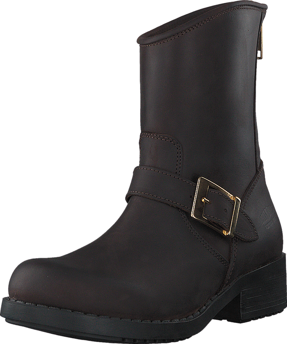 Johnny Bulls Low Boot Zip Back Brown/Shiny Gold