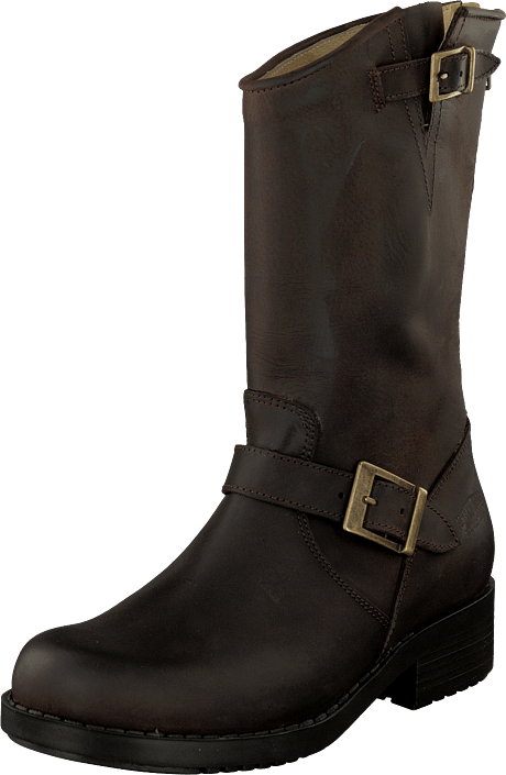 Johnny Bulls - Mid Zip Back Brown/Gold
