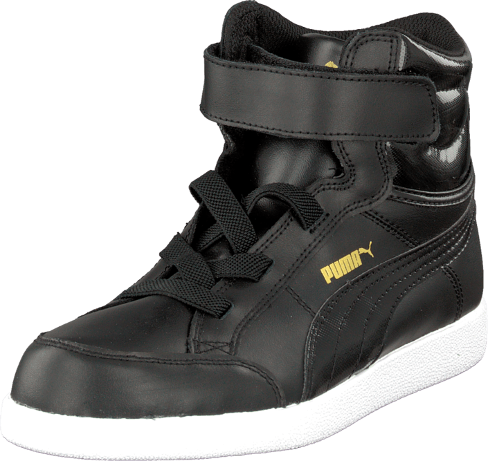Puma - Puma Ikaz Mid Kids Black-Black-Team Gold