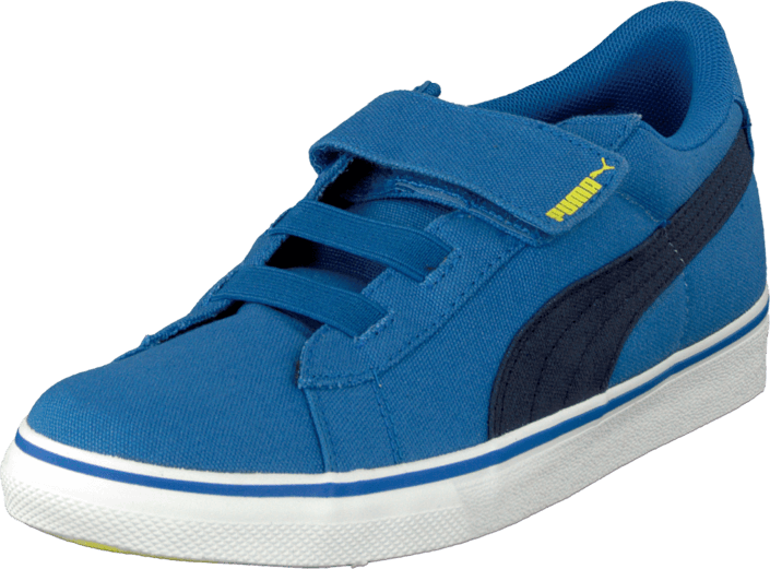 Puma Puma S Canvas Vulc V Kids Strong Blue-Peacoat