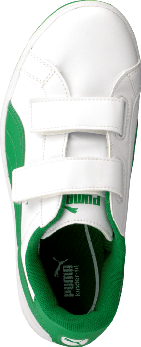 Puma - Puma Smash L V Kids White-Fern Green