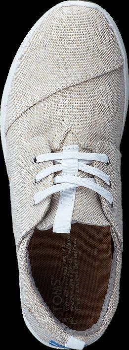 Toms - Del Rey Sneaker Natural Metallic Linen