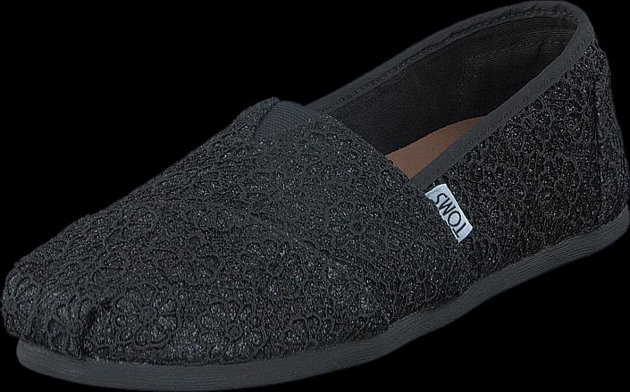 Toms - Seasonal Classics Black Crochet Glitter