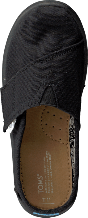 Toms - Seasonal Classic Kids Black Canvas