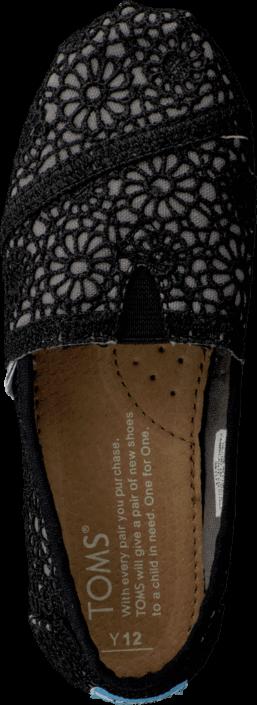 Toms - Classics Jr Black Crochet