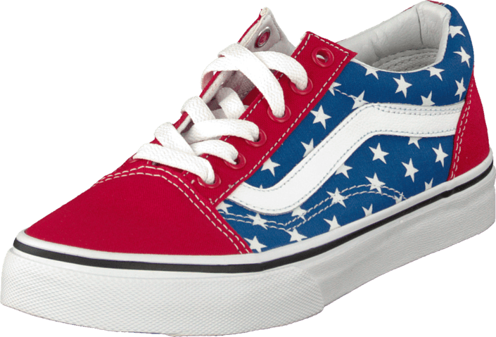Vans - K Old Skool Stars Stripe Red
