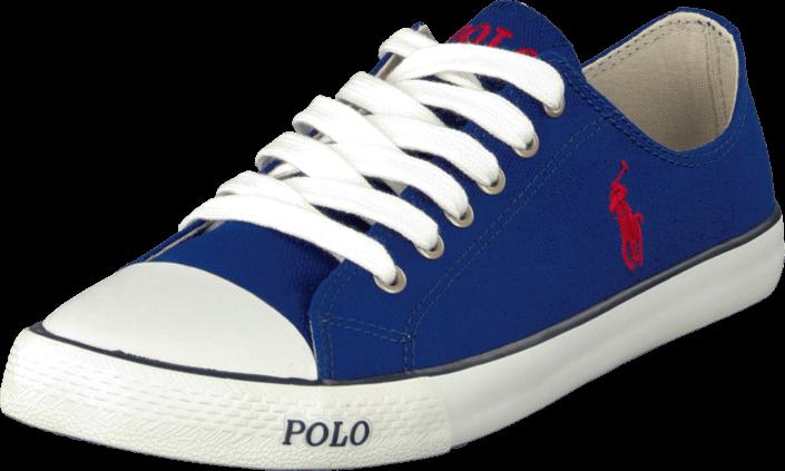 Billede af Ralph Lauren Junior Carson Low Royal Blue, Sko, Flade sko, Lærredsko, Blå, Unisex, 27