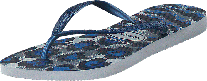 Havaianas - Slim Animals Ice Gray/Navy Blue