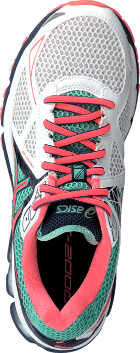 Asics - GT-2000 3 White/Flash Coral/Aqua Mint