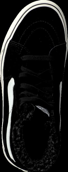 Vans - SK8-Hi (Pig Suede/Fleece) Black/Blanc