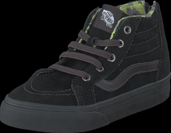 Vans SK8-Hi Zip (MTE) black/lime punch
