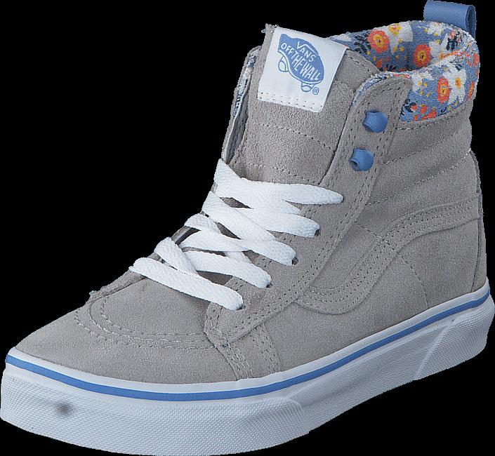 Vans SK8-Hi MTE (MTE) floral pop/gray violet, Sko, Sneakers & Sportsko, Høye Sneakers, Grå, Unisex, 27