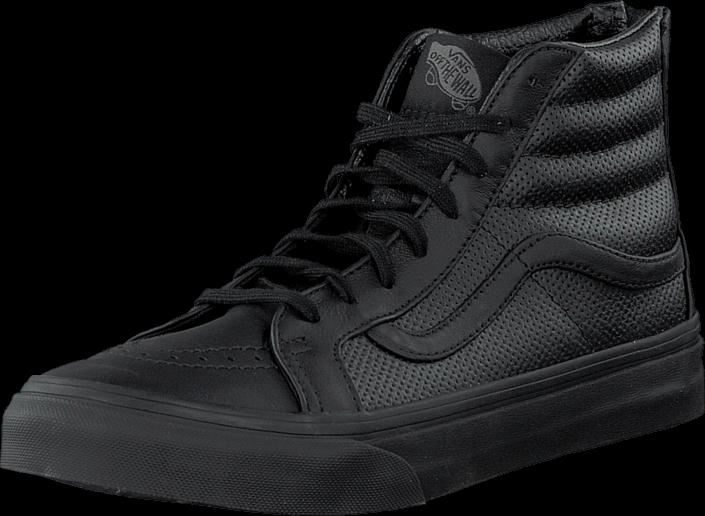Vans SK8-Hi Slim Zip (Perf Leather) Black/Black