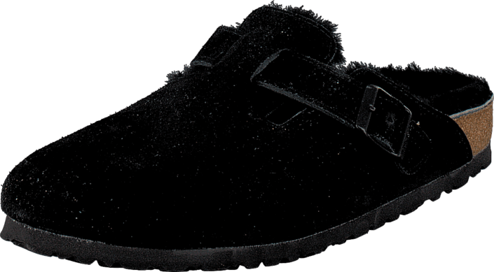 Birkenstock Boston Black Sheepskin Black