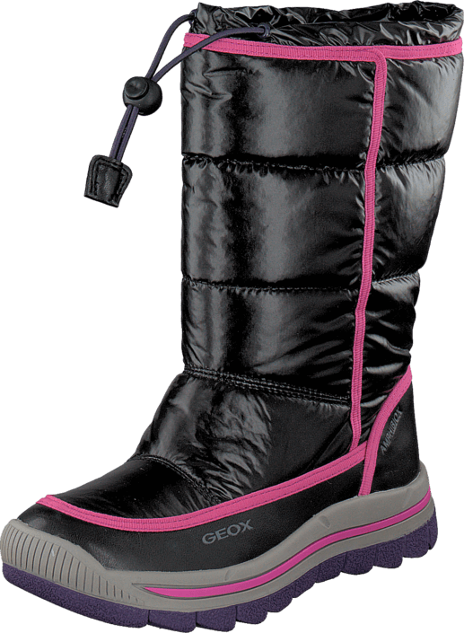 Geox J Overland G.Abx A - Ny+Prl.Sy Black/Fuchsia
