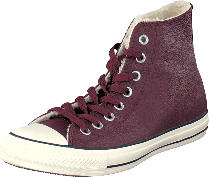 Converse All Star Leather Shearling Deep Bordeaux/Natural/Egret