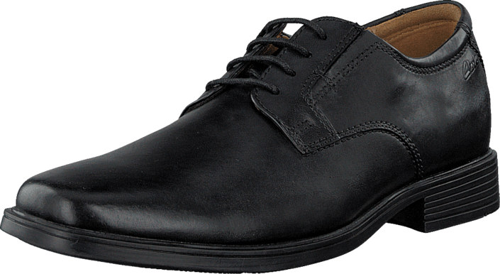 Clarks Tilden Plain Black Leather