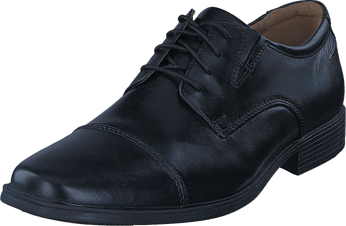 Clarks - Tilden Cap Black Leather