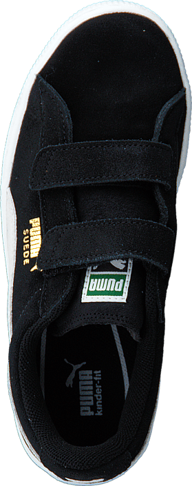 Puma - Suede 2 straps Kids Black-White