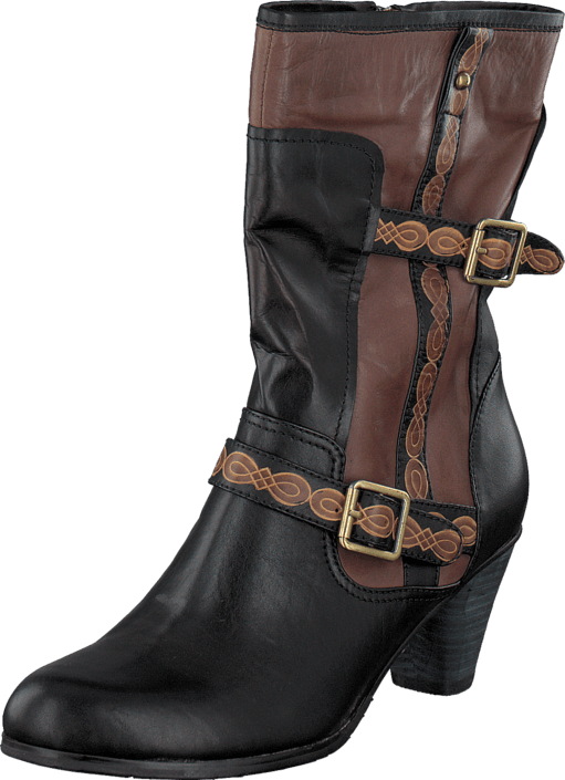 Soft Comfort - Fellbach Black/cognac 04