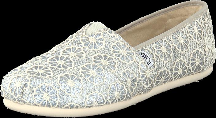 Toms - Wm Seasonal Classic Silver crochet glitter
