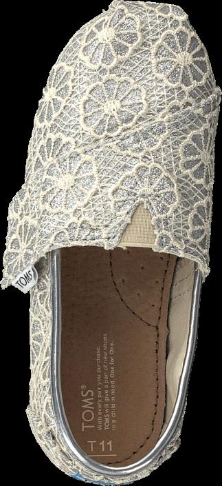 Toms - Seasonal classic tiny Silver crochet glitter