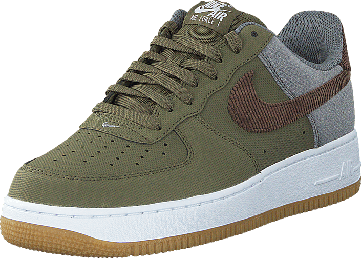 Nike - Air Force 1 Mdm Olv/Trck Brwn-Cl Gry-White