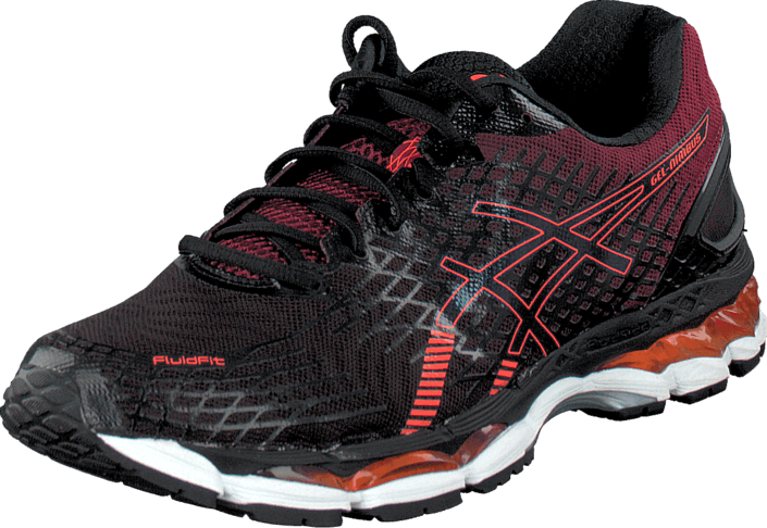 Asics - Gel Nimbus 17 Black/Hot Orange/Deep Ruby